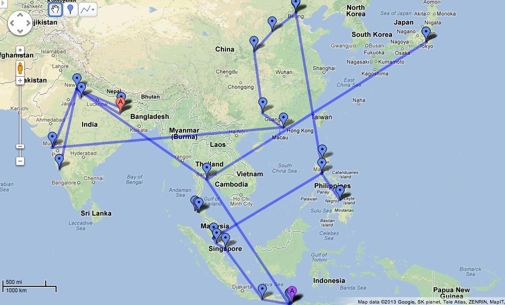 Education – Trip Route Map